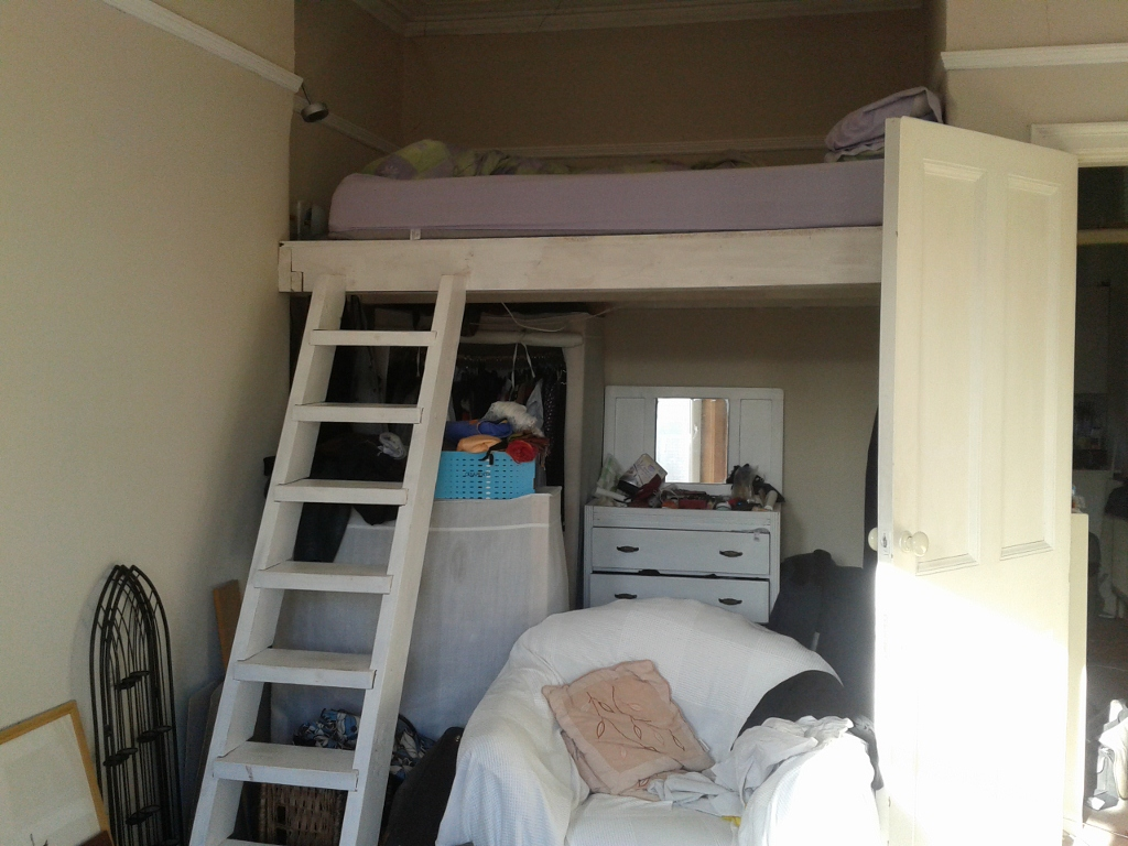 before - bed area